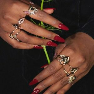 The Vampires Wife x H&M rings